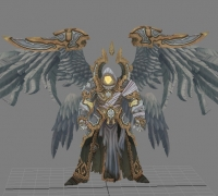 生物模型~ 黑暗血统2 六翼天使 (max, obj, FBX)