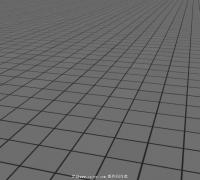 网格地面源文件 可作游戏DEMO场景或地面