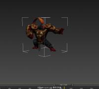 剑灵模型-猴子怪物3D模型带完整的动作,法线贴图,自发光贴图,高光贴图