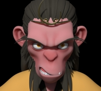 anthropomorphic monkey full rigged