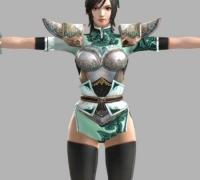 PS3 真三国无双6  15个女性模型  OBJ加贴图