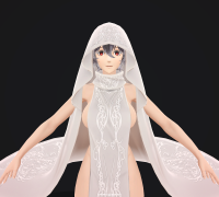 嗜血代码 Karen Dress模型,有FBX MAX 带T-pose 全贴图