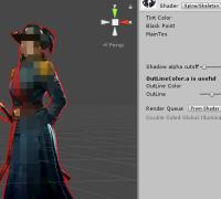 spine在unity里面的一个勾边shader