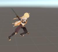 原神人物空模型和打击动作