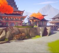 UE4日式花村场景——风格化
