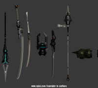《尼尔机械纪元》2B全武器模型