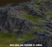 3dmax VS WorldMachine高精度低面数真实地形建模视频教程