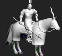 骑兵攻击、跑步、死亡