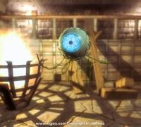 unity3d 飘浮的魔眼 动画模型包