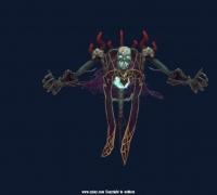 地狱鬼骷髅模型带动画