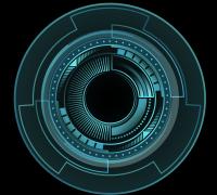 科技感圆盘动态特效,AE和unity序列图