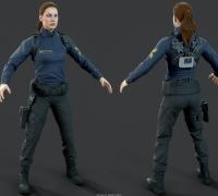 次世代女警警察女人欧美风模型,3dsmax文件