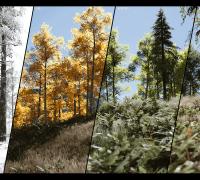 UE4 UnrealEngine4 虚幻4 Procedural Landscape Eco景观生态系统