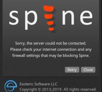 求助~~关于spine登录/切换版本,就会报防火墙错误,怎么解决?
