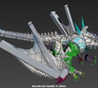 一个蒙皮好了的龙的模型