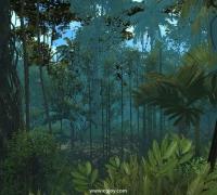 unity 超写实丛林资源包 亚热带植物 树木 藤曼 草 石头 天空盒 各种植物,1...