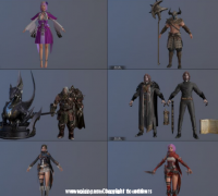 韩国游戏Overhit 全套80多个次世代角色怪物模型PBR贴图