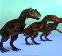几个普通的恐龙,带全套动作