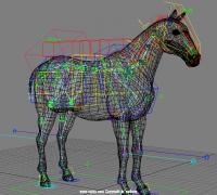 刚才看见一个很棒的马的动画制作 我也发一个马的绑定作品展示吧。希望大家...
