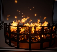 Unreal engine Niagara Fire effect Pack02