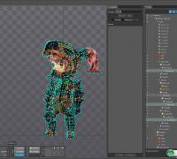 Sping-骑士团 源文件 3组角色+mesh+动画