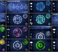 5例高科技HUD全息圆形目标定位视频素材