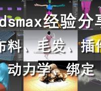 3dmax动画、动力学、布料、毛发、CAT骨骼、特效、Ornatrix