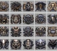 非常帅的20个异形徽章图标 - 游戏UI设计