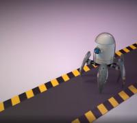 蜘蛛机器人行走练习