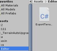 unity  地形terrain 转换成FBX模型插件