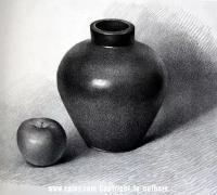 結構素描如何畫罐子