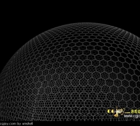 如何制作均匀六边形球体模型呢?