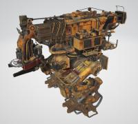 伐木机器机甲车