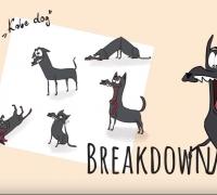 用Blender grease pencil制作的一小段动画花絮,狗子吃三明治的日子