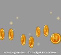 FLASH做的金币掉落特效,新手学习参考