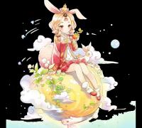 兔子女孩切图
