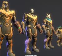 堡垒之夜(Fortnite)500多个带骨骼游戏角色模型