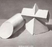 素描几何体结构绘画教程