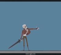 拉片笔记01:卡通骷髅连击