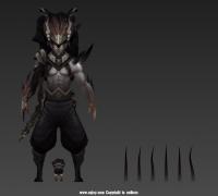 英雄联盟-暗夜使者-亚索带绑定max2014(两个体型同套BIP骨骼绑定,Bone已设蒙皮姿势)