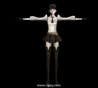 龙背上的骑兵3 Accord 女角色 带贴图带绑定FBX