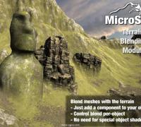 地形网格平滑混合编辑插件 MicroSplat - Terrain Blending