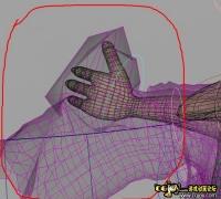 maya2009中角色動作劇烈時導致布料嚴重穿插!求解決!