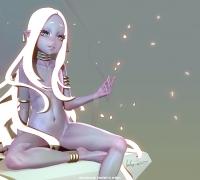 外國大神制作黑皮白發精靈蘿莉MAX模型