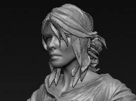 巫师三Ciri Zbrush 模型练习