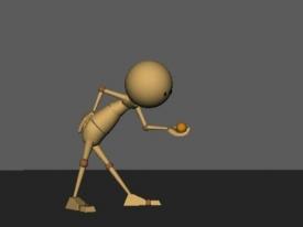 木头人扔球