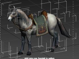 三种颜色马的模型以及待机动作
